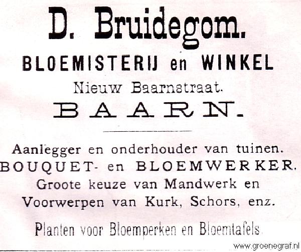 Bloemist en dahliakweker Daniel Bruidegom