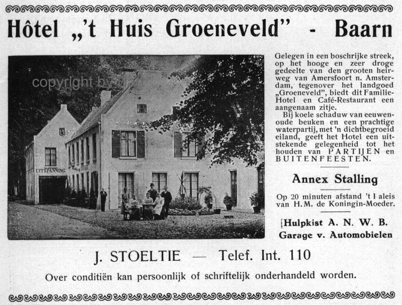 """Hotel """"'t Huis Groeneveld"""""""