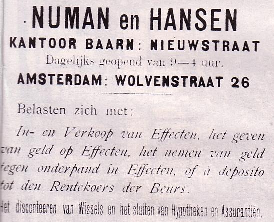 Kantoor Numan en Hansen
