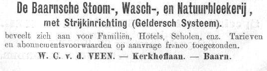 Baarnsche Stoom-, strijk-, en natuurbleekerij v.d. Veen