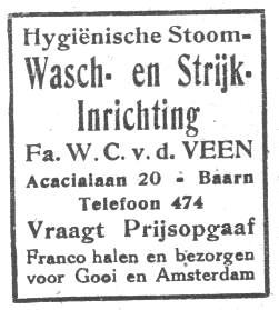 Was- en strijkinrichting W.C. v.d. Veen