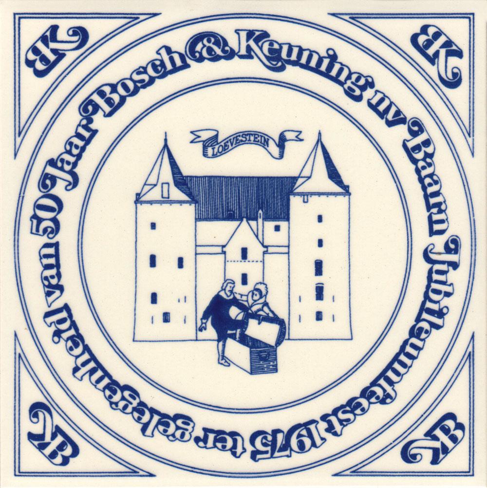 Jubileumtegel Bosch en Keuning