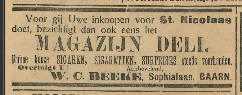 Sigarenhandel W.C. Beeke