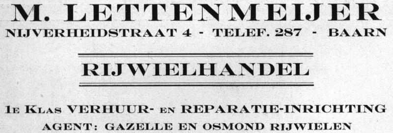 Rijwielhandel M. Lettenmeijer