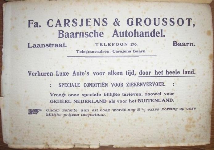 Carsjens en Groussot Baarnsche Autohandel