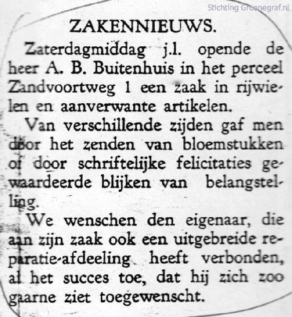 Opening A.B. Buitenhuis