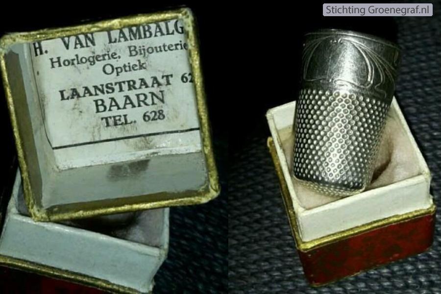 Vingerhoed van horlogemaker Hendrik van Lambalgen