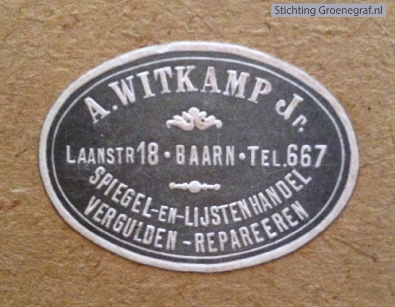 Adrianus Witkamp, lijstenmaker