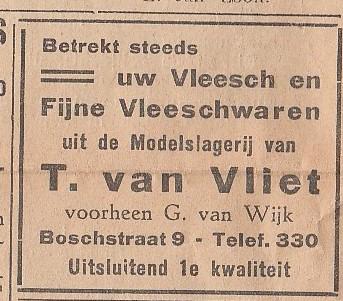 T. van Vliet voorheen G. van Wijk modelslagerij