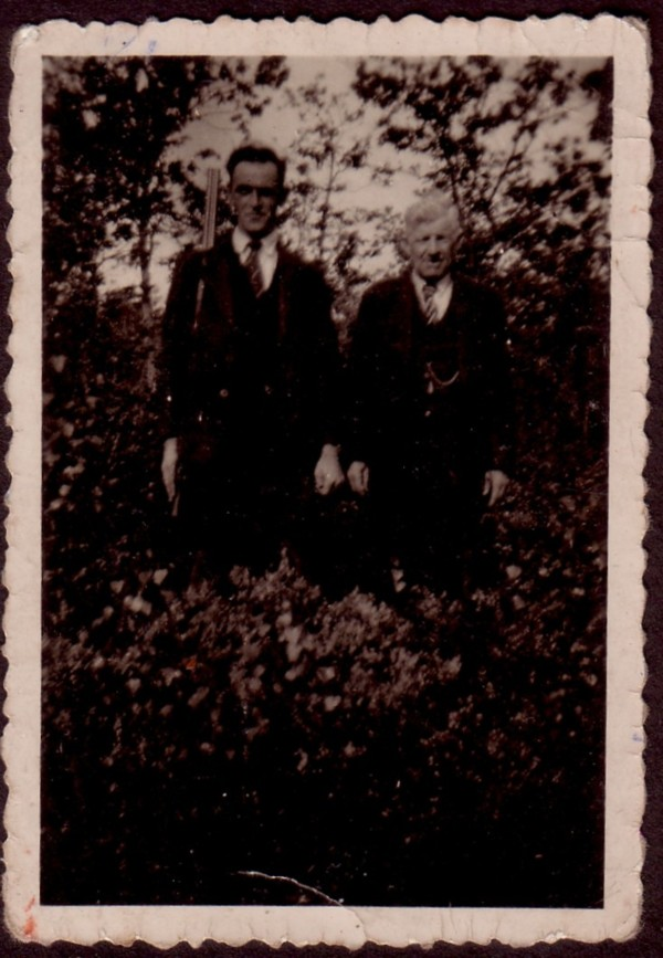 Willem van der Schagt met zijn vader Albert van der Schagt