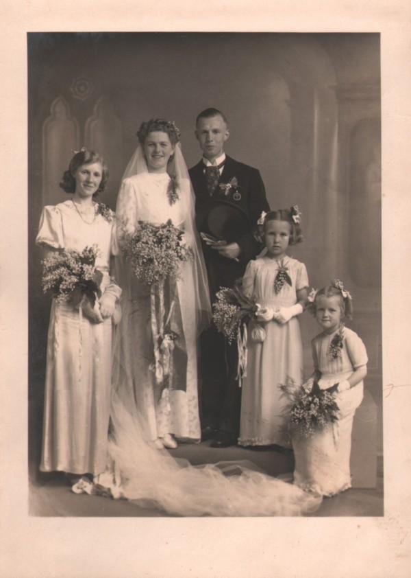 Everdina Haringsma en Johan de Jong trouwfoto