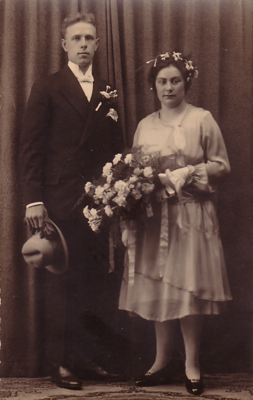 Silvester van Zijst en Jannigje Koops, trouwfoto