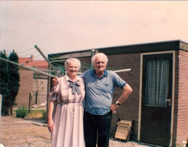 Wilhelmina Hogenaar en Wouterus Roos