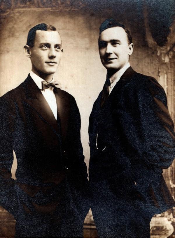 Cornelis Bruidegom en zijn zwager Gilles van Hees