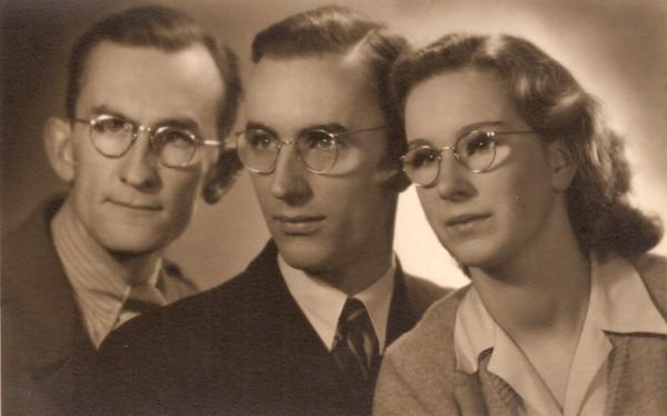 Willem, Gilles en Danielle van Hees