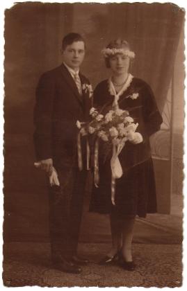 Christiaan Wilhelm van der Flier en Louisa Maria Johanna Wieggers trouwfoto