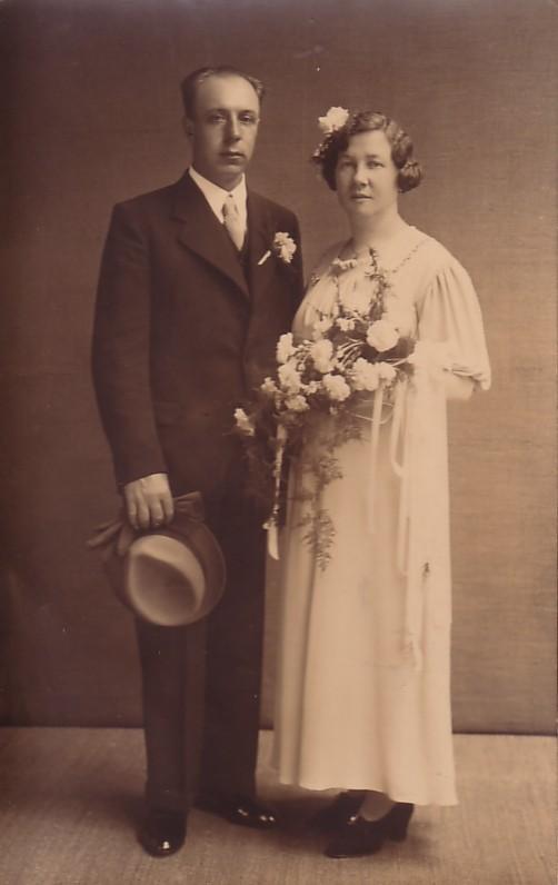 Nicolaas Pieter van Zijst en Heintje Koops, trouwfoto