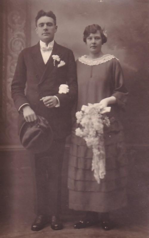 Adrianus van den Brakel en Ann van Zijst, trouwfoto