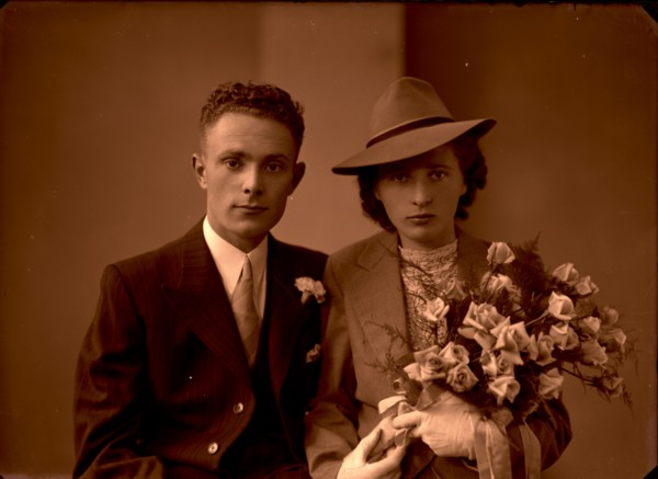 Bruidspaar Jean Jozef Kraan en Johanna Dijs