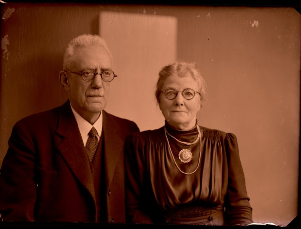 Foto  Ds. Lourens Johannes Carel Kreijt en Catharina Augusta Felderhof