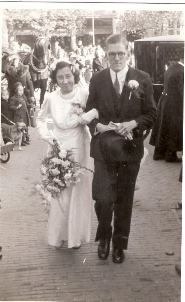 Jaantje Glasius en Abraham Nicolaas Sijtsma trouwfoto