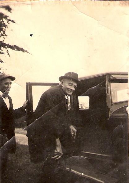 Gerrit Lammetse met vader Elbert Lammertse