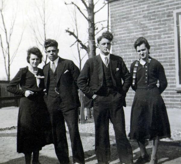 Geertruida Roos, Anthony Slagboom, Wouterus Roos en Antonia Roos