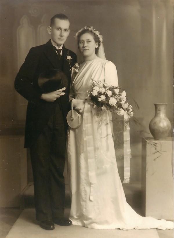 Frans Hendrik Cornelis Kotten en Margaretha Christina Piek trouwfoto