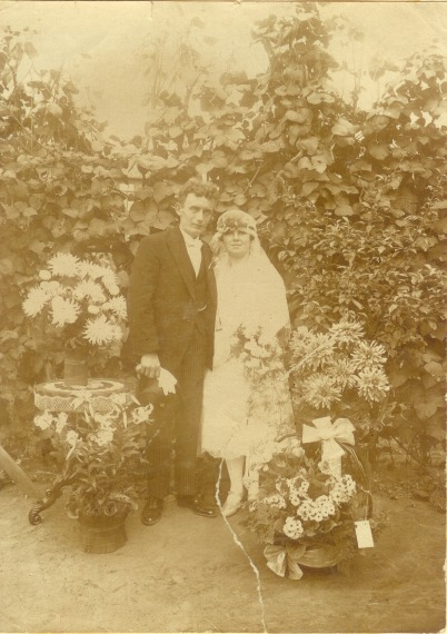 Foto  Johannes Gerardus van Hagen en Helena Nowacka trouwfoto