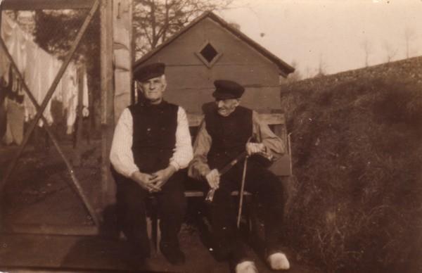 Johannes van Geijtenbeek waarschijnlijk met zoon