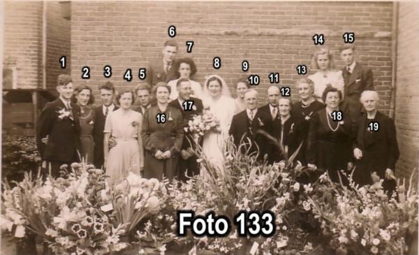 Elbert van der Ent en Jeltje van Ee, trouwfoto