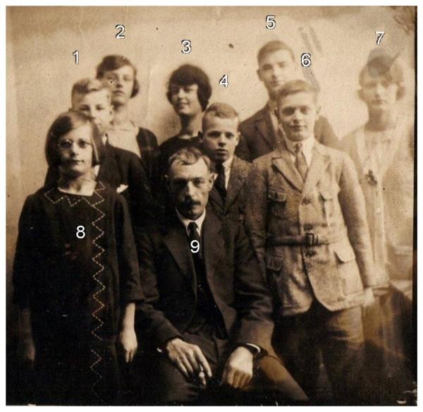 Antonius Scheel met zijn kinderen