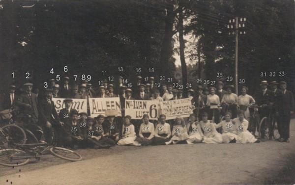 Foto  Verkiezingscampagne voor Baron van Wijnbergen