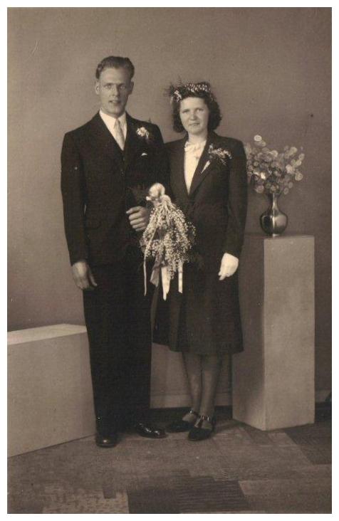 Antonius Scheel en Mien van Drie trouwfoto
