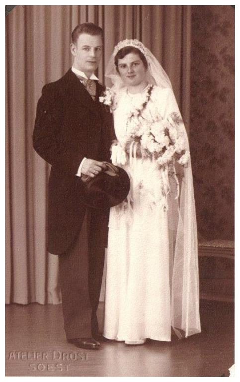 Johannes Hendrikus Scheel en Hennie Bosboom trouwfoto