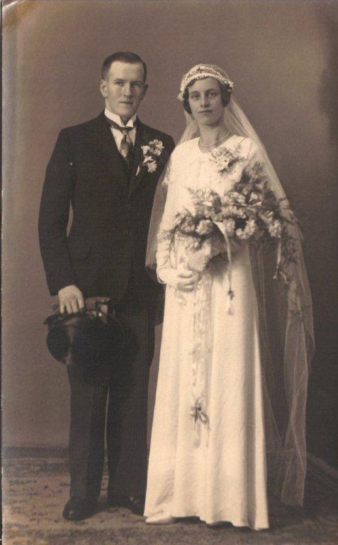 Johannes van den Brakel en Elisabeth Francisca Johanna Scheel trouwfoto