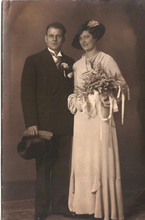 Paulus van Melsen en Cornelia Helena Scheel trouwfoto