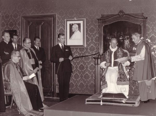 Dirk de Vree met Paus Paulus VI