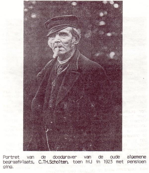 Christiaan Theodorus Scholten, doodgraver