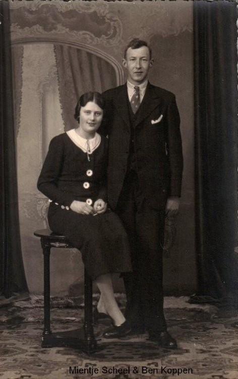 Wilhelmina Scheel en Bernardus Antonius Koppen