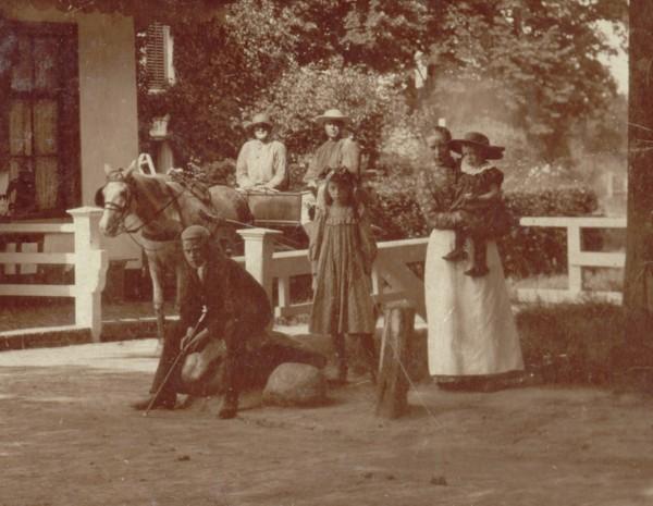 Detail van foto tolhuisje aan de Eemweg Baarn
