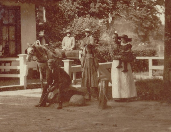Foto  Detail van foto tolhuisje aan de Eemweg Baarn