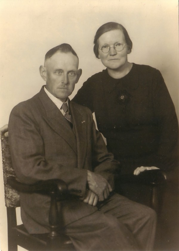 Foto  Frans Hendrik Cornelis Kotten en Christina Hermina Antoinetta Lüschen