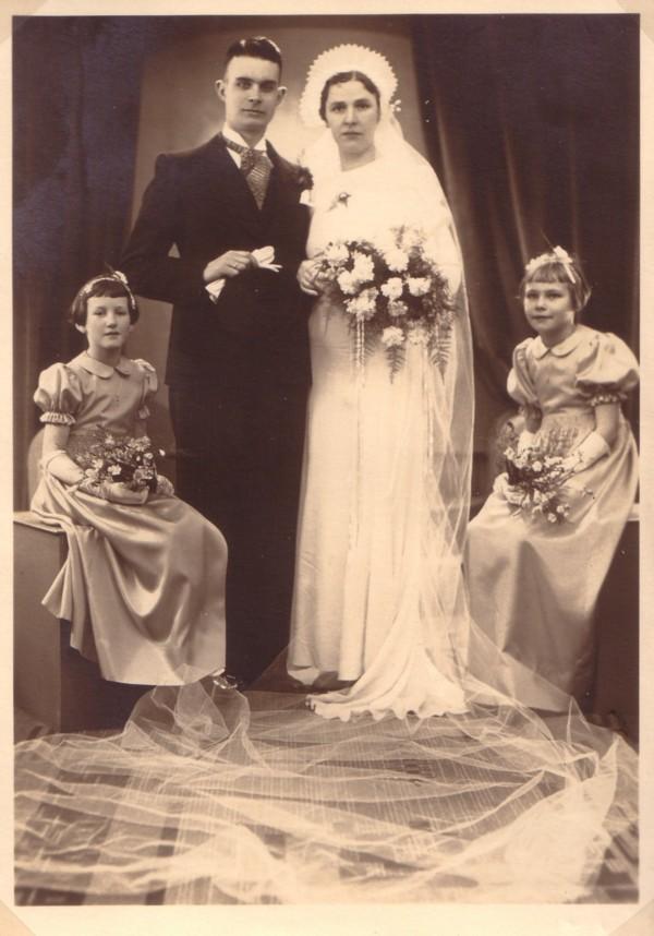 Pieter van Paridon en Johanna Carolina Catharina Maria Tinga trouwfoto
