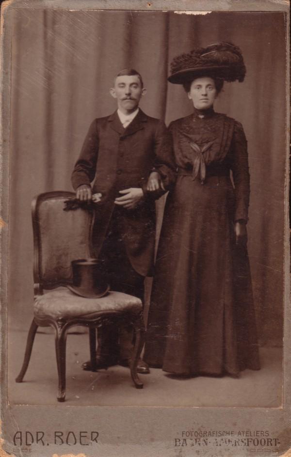 Johannes Breunesse en Willemijntje Schouten trouwfoto
