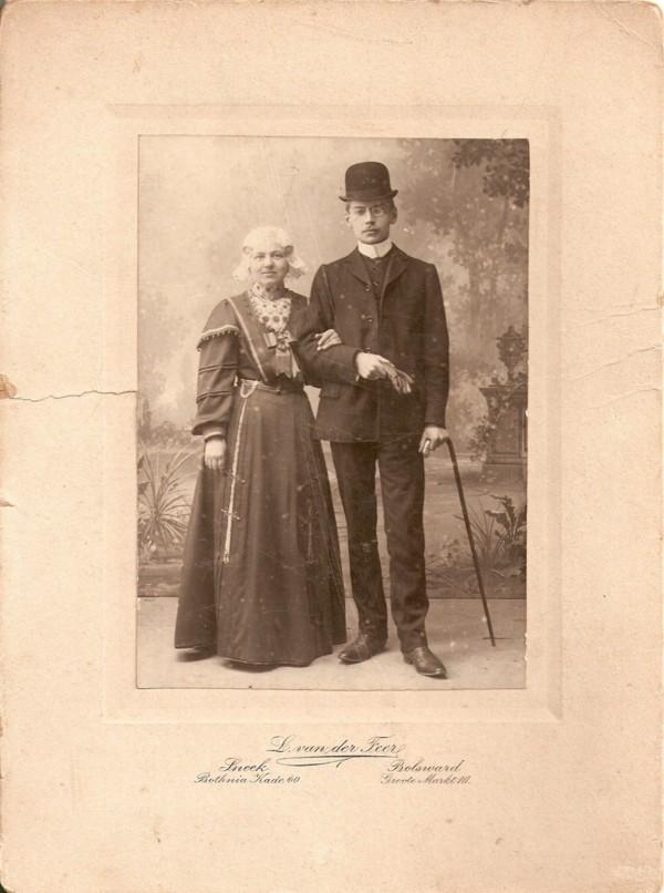 Evertje Meijer en Jan Geijtenbeek trouwfoto