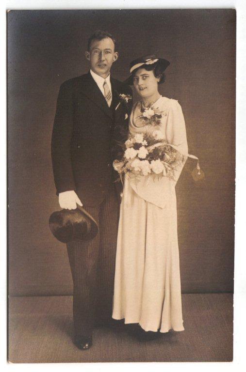 Bernardus Antonius Koppen en Wilhelmina Scheel trouwfoto