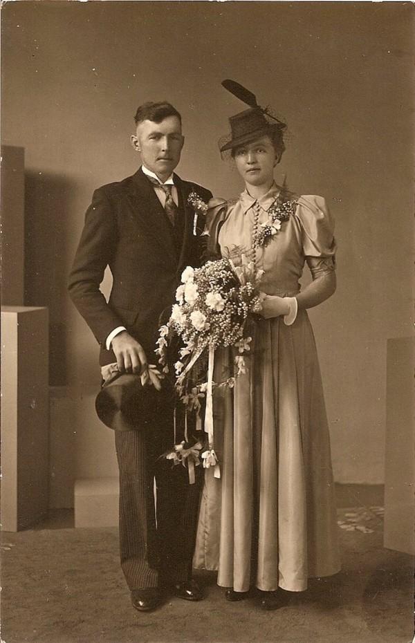 Jan Zonneveld en Margrietha Imthorn trouwfoto