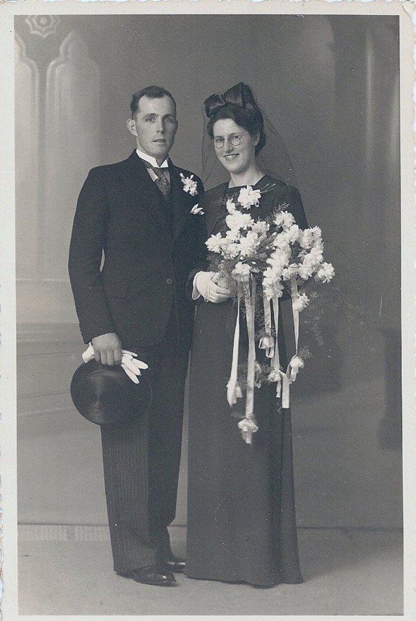 Gerbrand Zonneveld en Hendrika Roothart trouwfoto
