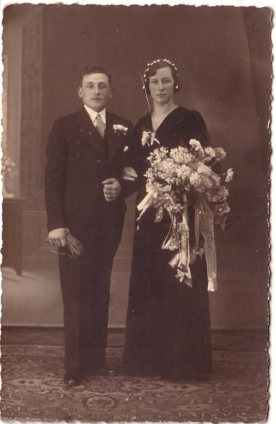 Gerrit Lankhorst en Alberta van der Schagt trouwfoto